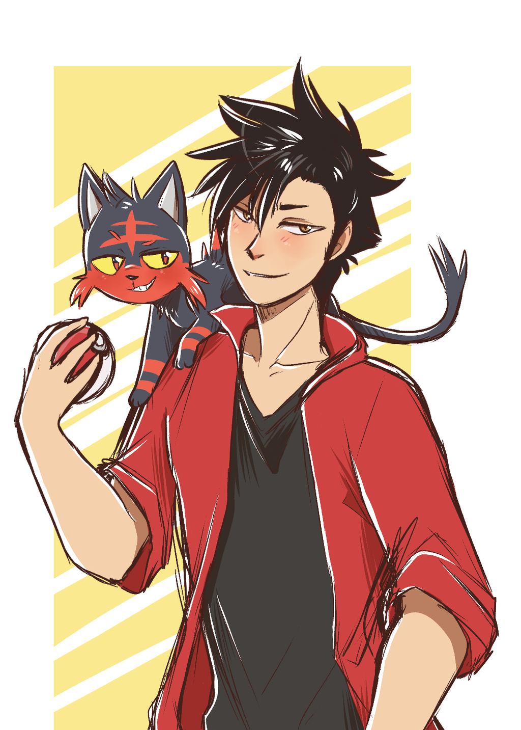 Kuroo + Litten by ThatWildMary