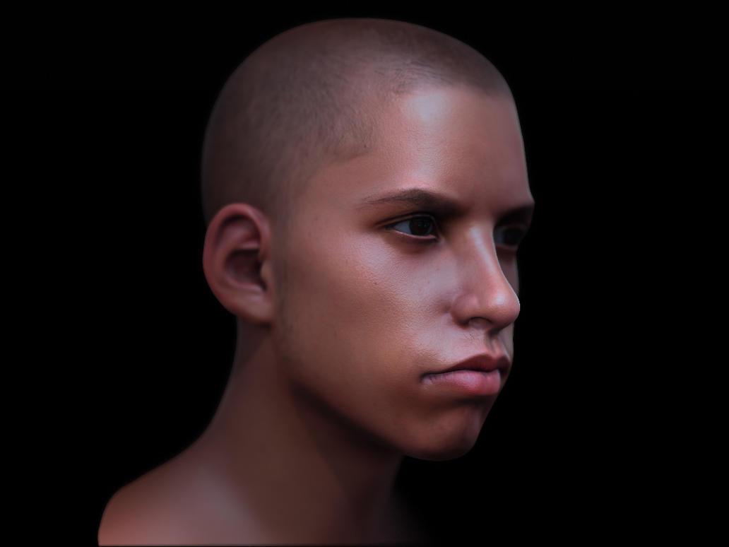 Boy head  render 2 by 3eof