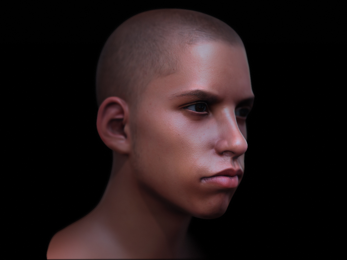 Boy head  render 2 by 3eof