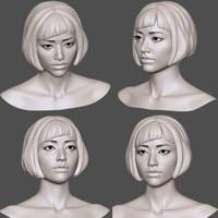 AsianGirlHeadBase2 by 3eof
