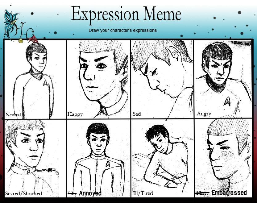 Expression Meme: Spock by LadyMac