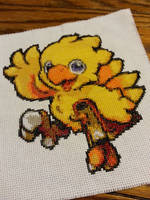 Chocobo Cross Stitch by FireWings26