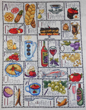 Gourmet ABC Counted Cross Stitch Kit