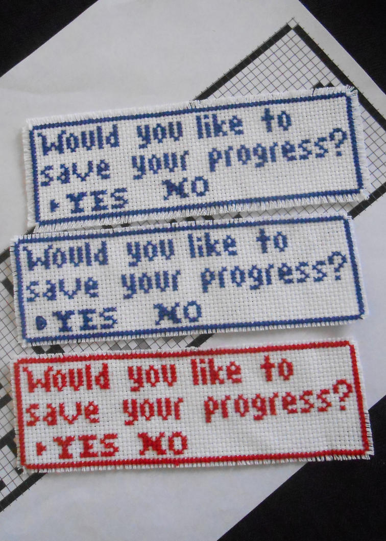 Save Your Progress Bookmarks by FireWings26