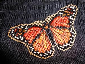 Monarch Butterfly - Beaded Cross Stitch Kit