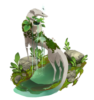 ESK - YCH - Puddle Explore - Fountain