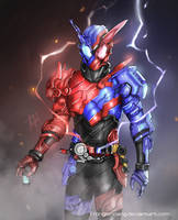 Kamen Rider Build Rabbit Tank Fanart by TrongLeHoang