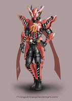 Kamen Rider Build Rabbit Rabbit concept art by TrongLeHoang