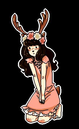 Halloween pixel deer png by Meli-Melon