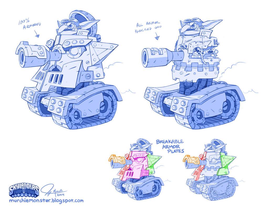 Skylanders Trap Team: Troll Tank by MURCHIEMONSTER