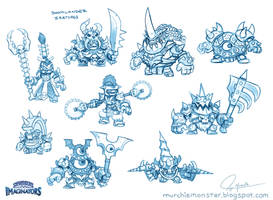 Original Doomlander Concept Sketches by MURCHIEMONSTER