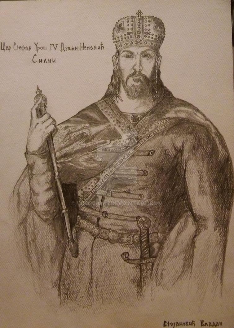 Car Stefan Uros IV Dusan Nemanjic Silni
