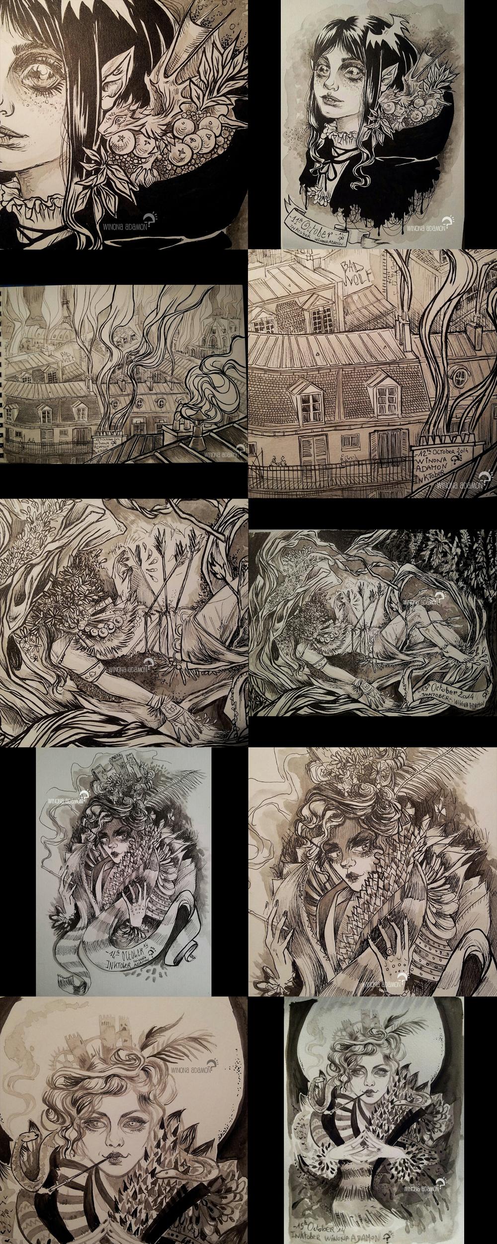 INKtober 2014 11-15 by winona-adamon