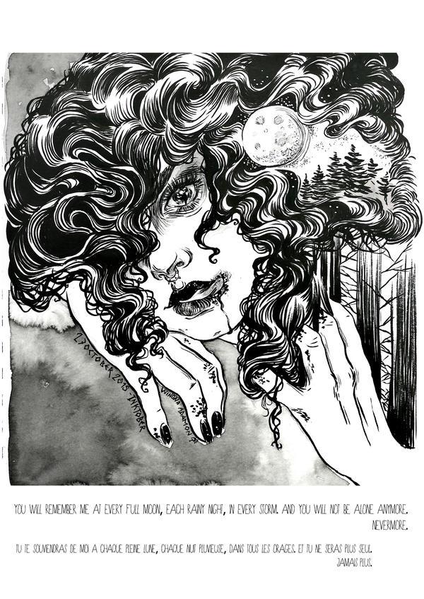 Full Hunter's Moon by winona-adamon
