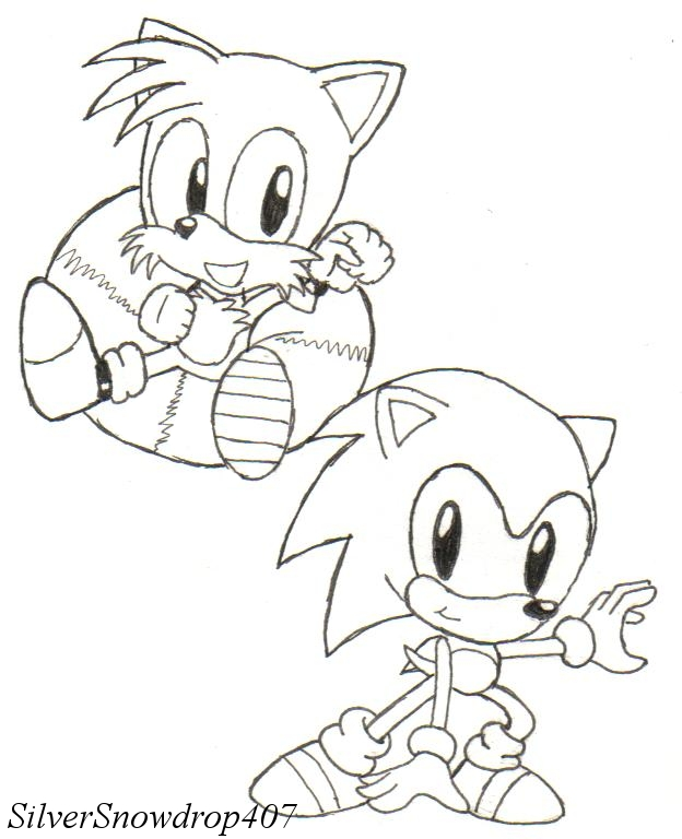 Classic Sonic and Tails by SilverSnowdrop407 on DeviantArt
