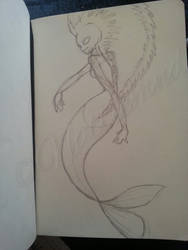Mermaid Sketch by nattiemnd