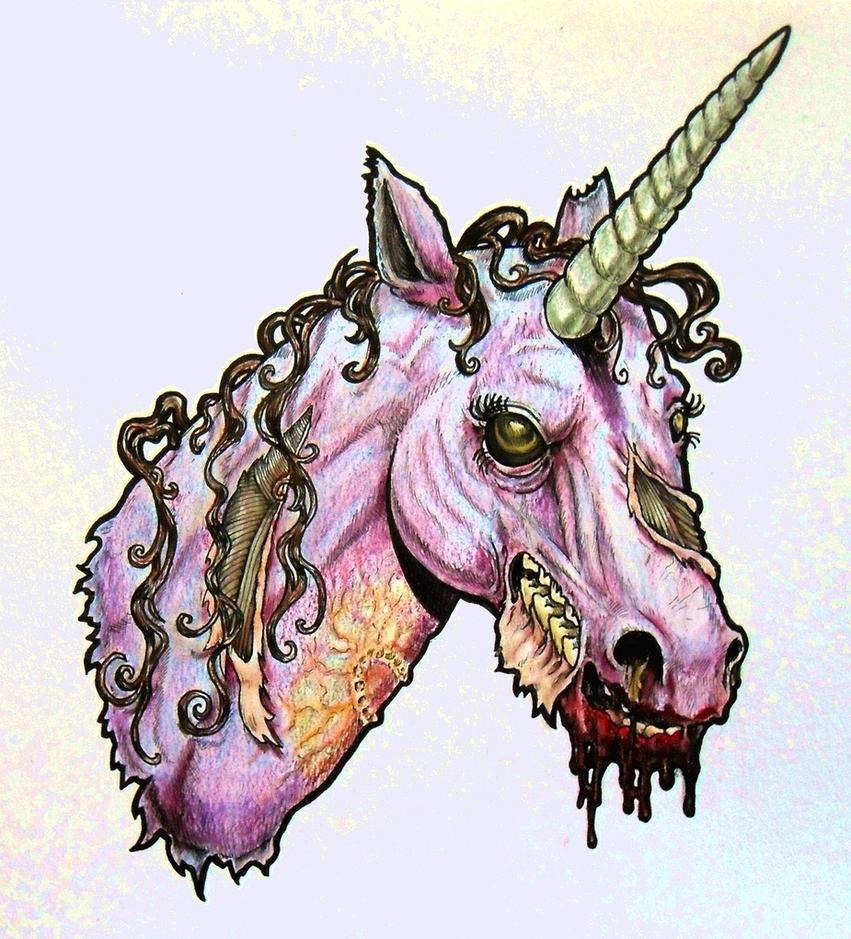 Zombie Unicorn Head