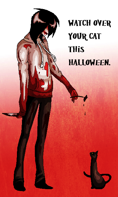 Watch Your Cat On Halloween by AngelKiller666