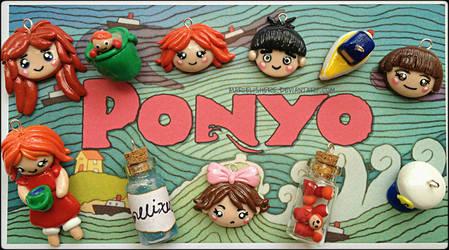Studio Ghibli's Ponyo Bracelet Charms by Marielishere