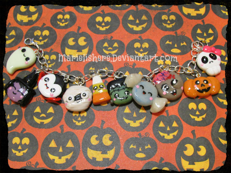 Kawaii Charms: Happy Halloween by Marielishere
