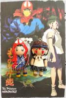 Chibi Charms: San and Ashitaka by Marielishere