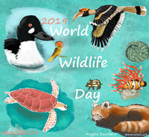 World Wildlife Day 2019 Collage