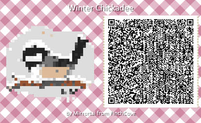 Winter Chickadee - Animal Crossing QR pattern vers