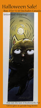 Moogle Halloween bookmark SALE