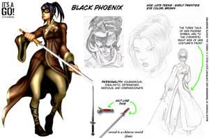 Black Phoenix: Reference Art by itsago
