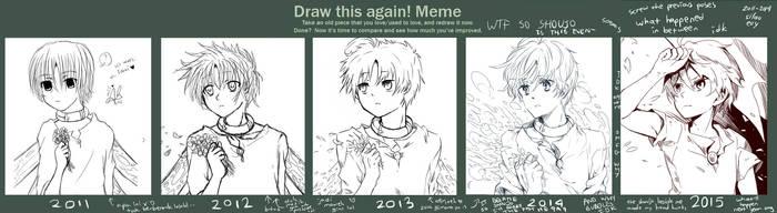 Draw This Again Meme again x4 bruh by rheamii