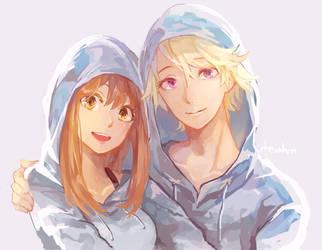 matching hoodies by rheamii