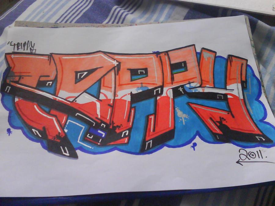 Prit's Graffiti *NEW THREAD* - Page 2 Shiny_orange_on_blue__by_trippygraff-d3jqi4r