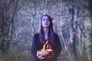Black Magic - Black Winter Day by AncaMitroi