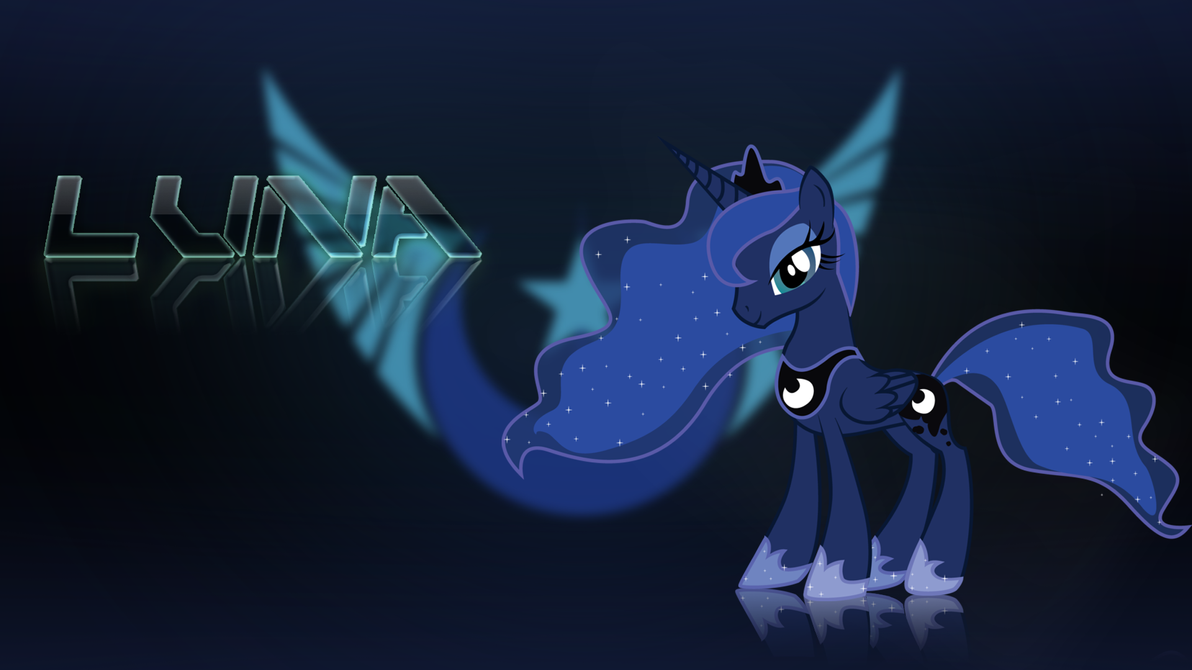 Finished Luna Wallpaper by Derpydeponson
