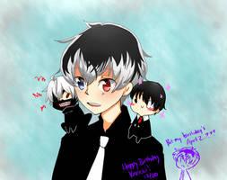 Happy Birthday Kaneki Ken! by milakumo