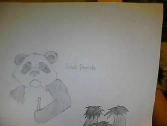 Sad panda by stacistasis