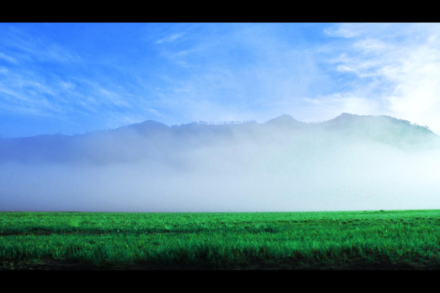 Morning Green Bromo Mountain by ixan27