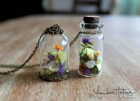 Crystal Garden Necklaces (with DIY video)