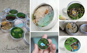 Vacation in your Pocket (super tiny dioramas) by MeandrousArt