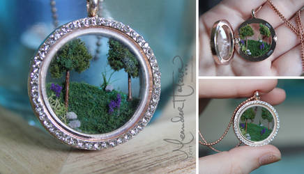 Little World Necklace (rough draft) by MeandrousArt