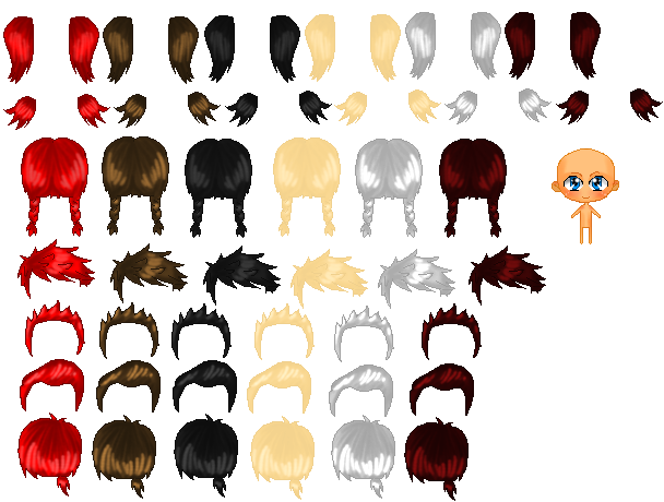 How to draw anime boy hair step by step