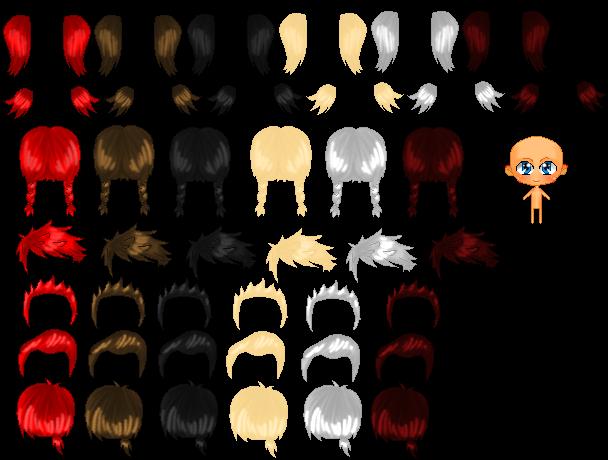 Bouncey Chibi Base Hair 2 By Ch4rm3d On Deviantart