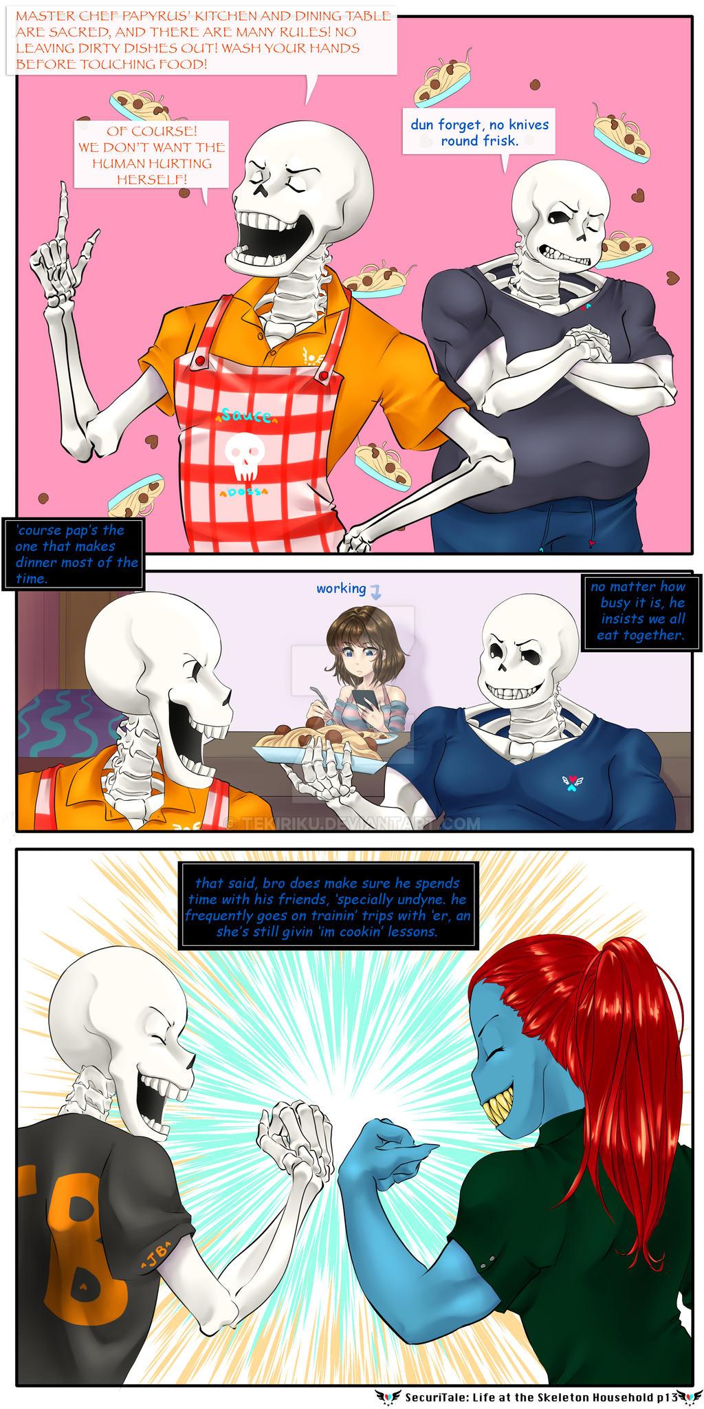 SecuriTale: Life at the Skeleton Household 13 by tekitourabbit