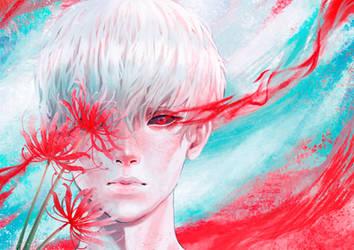 Kaneki - Tokyo Ghoul FANART by PaulinaKlime