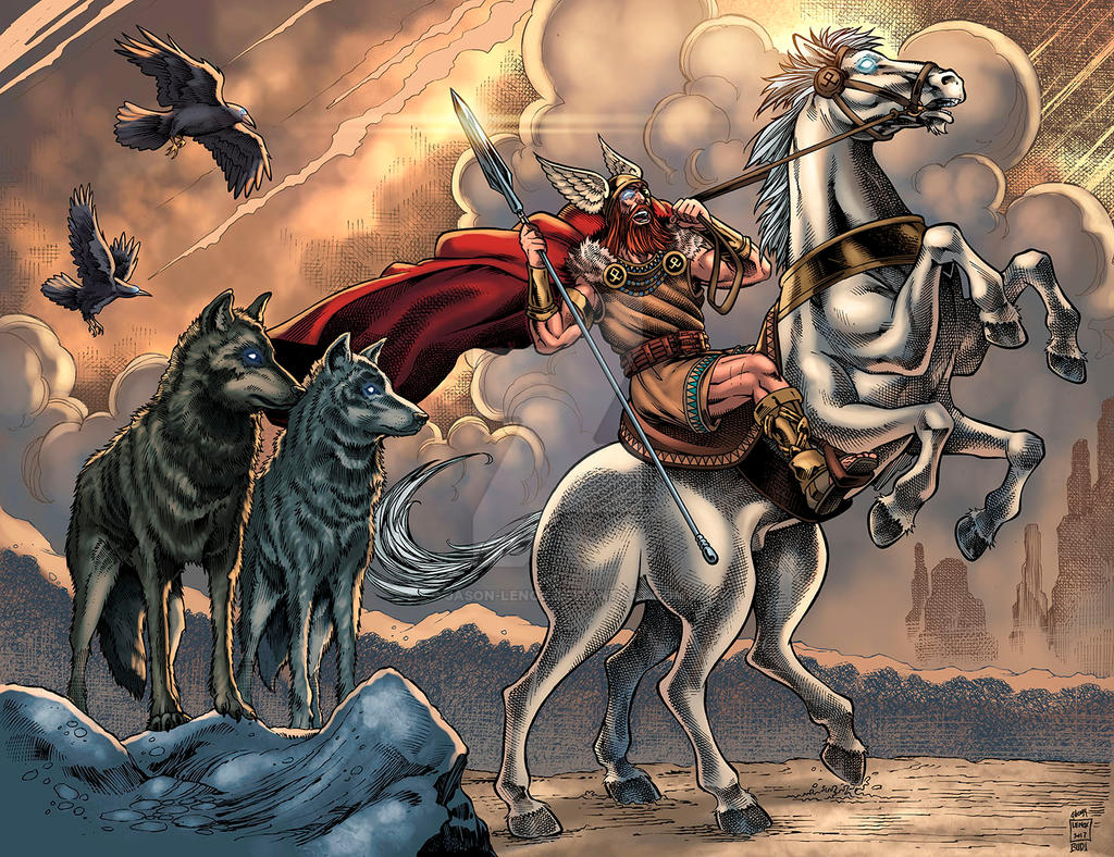 Odin and Sleipnir by Jason-Lenox on DeviantArt