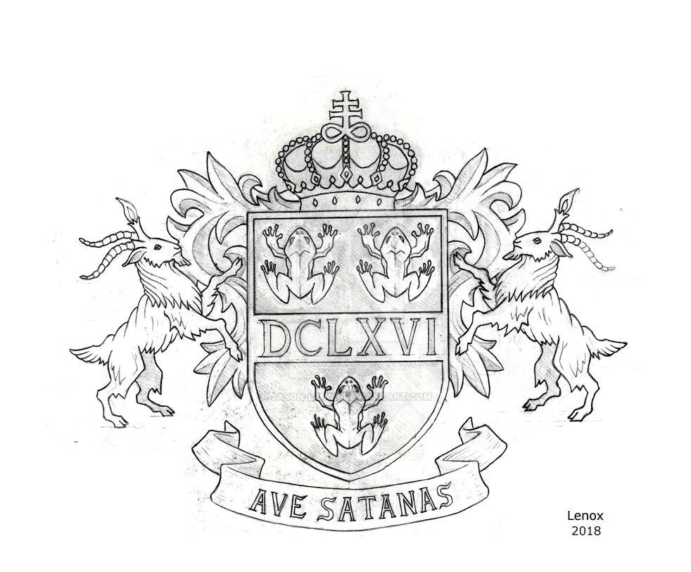 Satanic Coat of Arms by Jason-Lenox