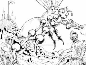 Lords of the Cosmos #3 Wrap Around Cover Inks