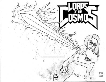 Lords of the Cosmos 3 Sketch Cover 9