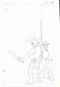 Lords of the Cosmos #5 Cover Pencils
