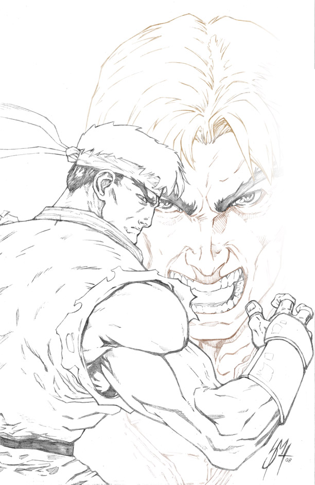 Street Fighter Ryu Ken Pencils By Whispering Road On Deviantart